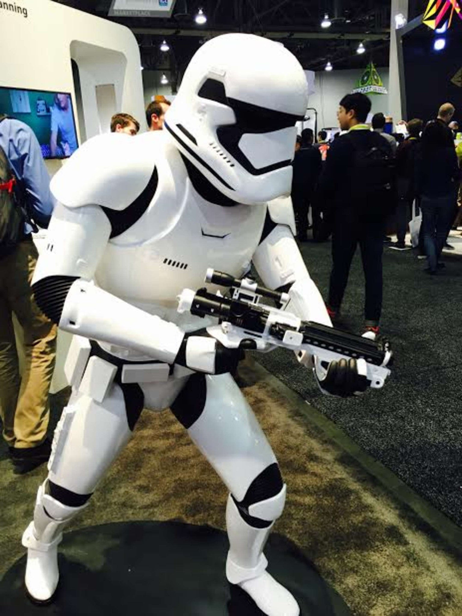 3D Printed Storm Trooper At CES