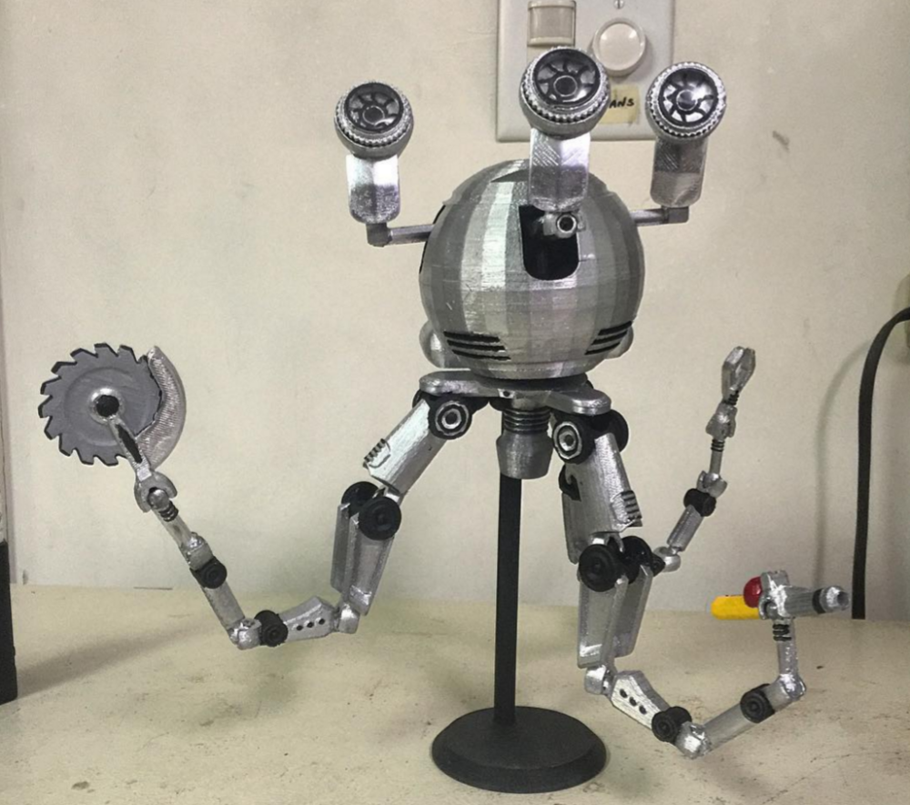 Fallout 4 Fan 3D Prints an Articulated Codsworth Figure