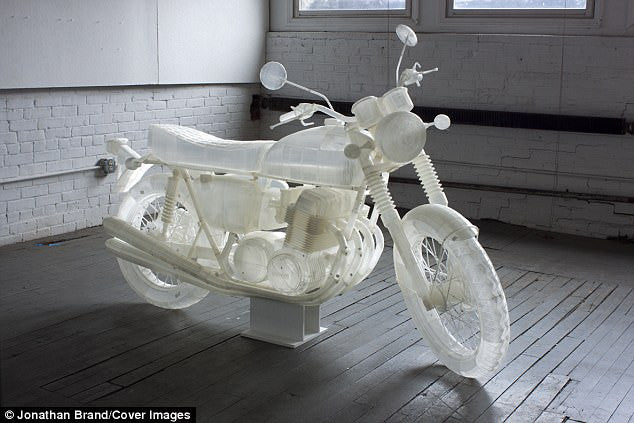 Artist Johnathan Brand 3D Prints Life Sized Motorcycle Replica