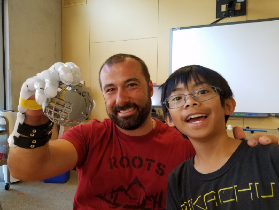 A 9 Year Old 3D Printed A Prosthetic Hand For An Adult