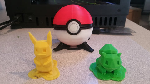 Pickachu, Bulbasaur, and the Pokeball