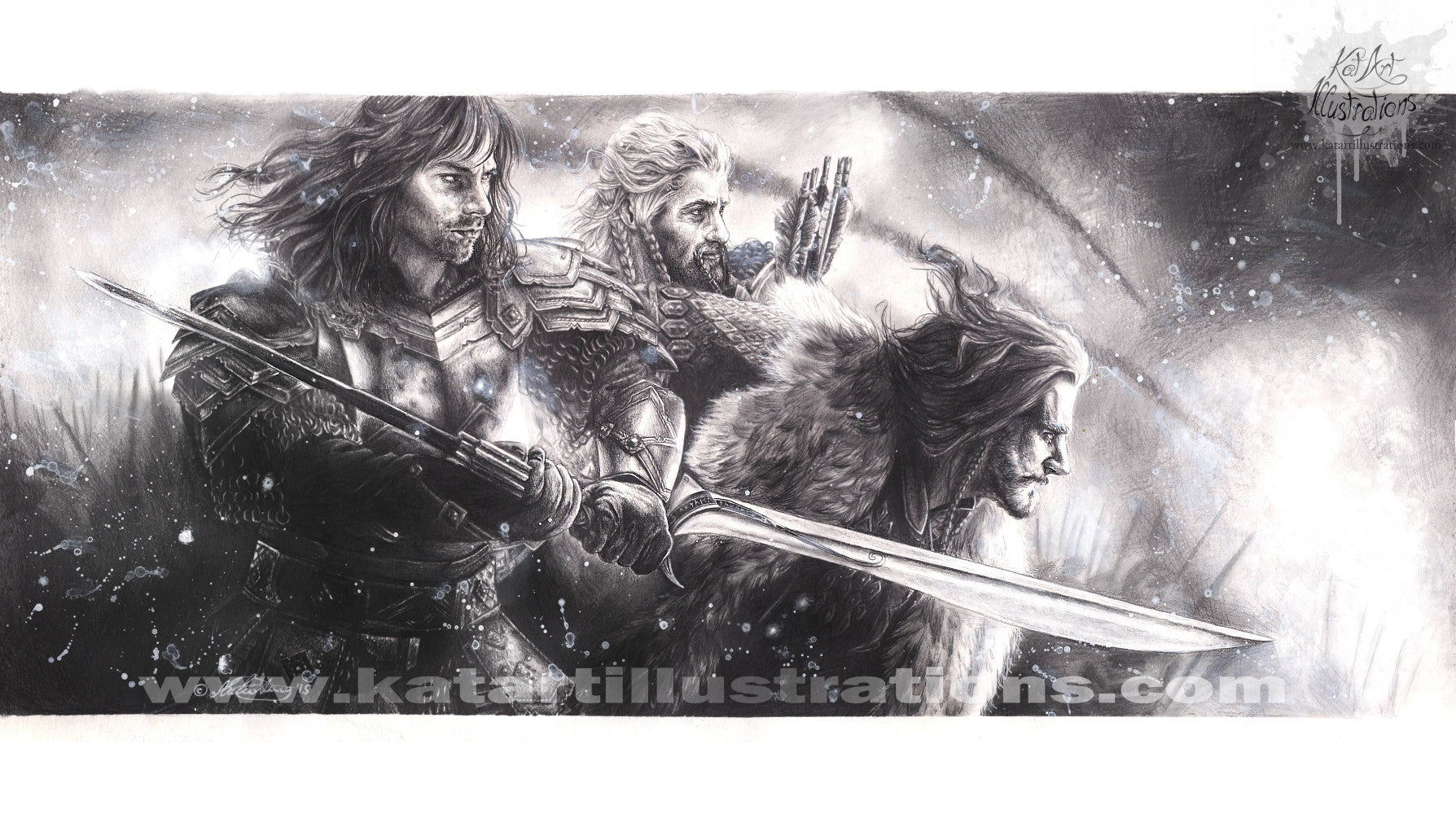 For Erebor A3 (16.5 x 11.7 in) Art Print