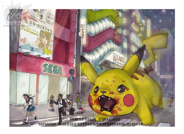 PikaRage A3 (16.5 x 11.7 in) Art Print - DISCONTINUED