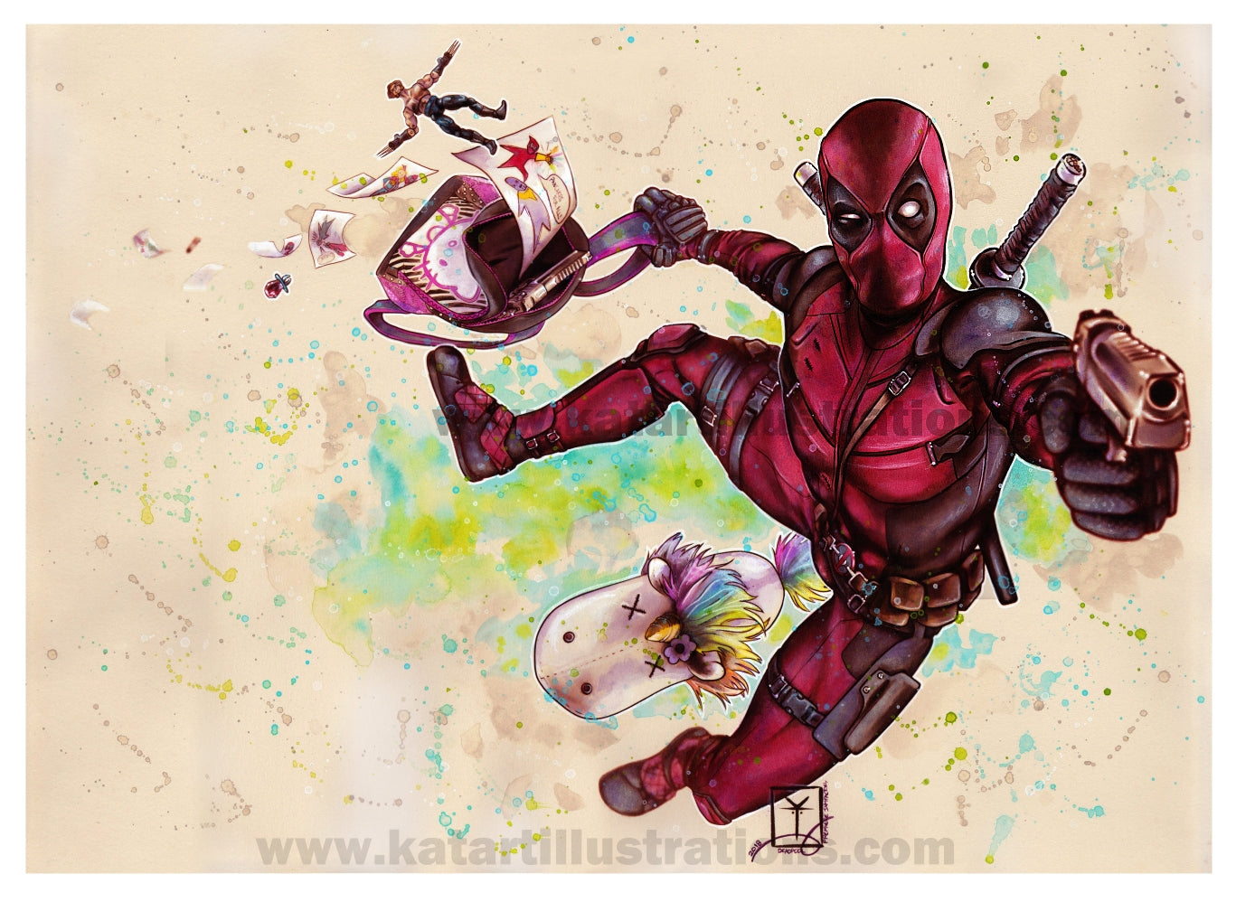 Deadpool A3 (16.5 x 11.7 in) Art Print