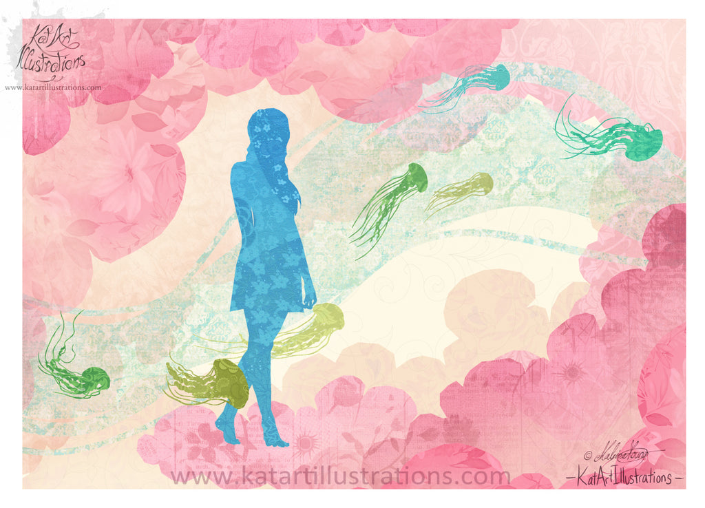 'Cloud Bloom' Art Print