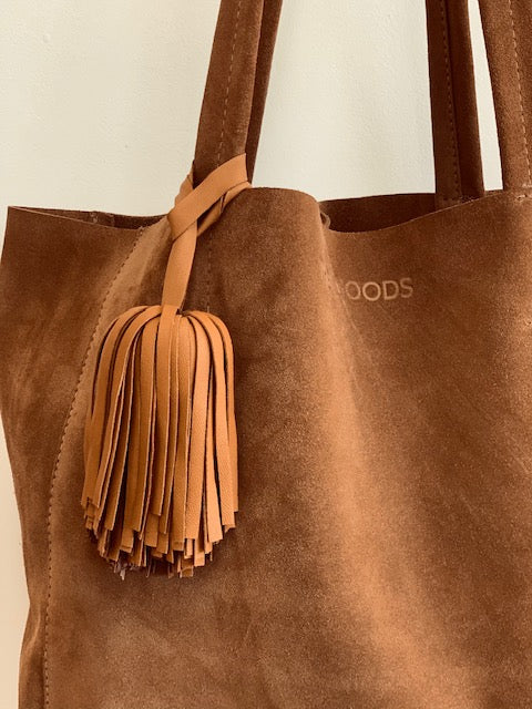 TAN NAPPA LEATHER TIE ON TASSEL