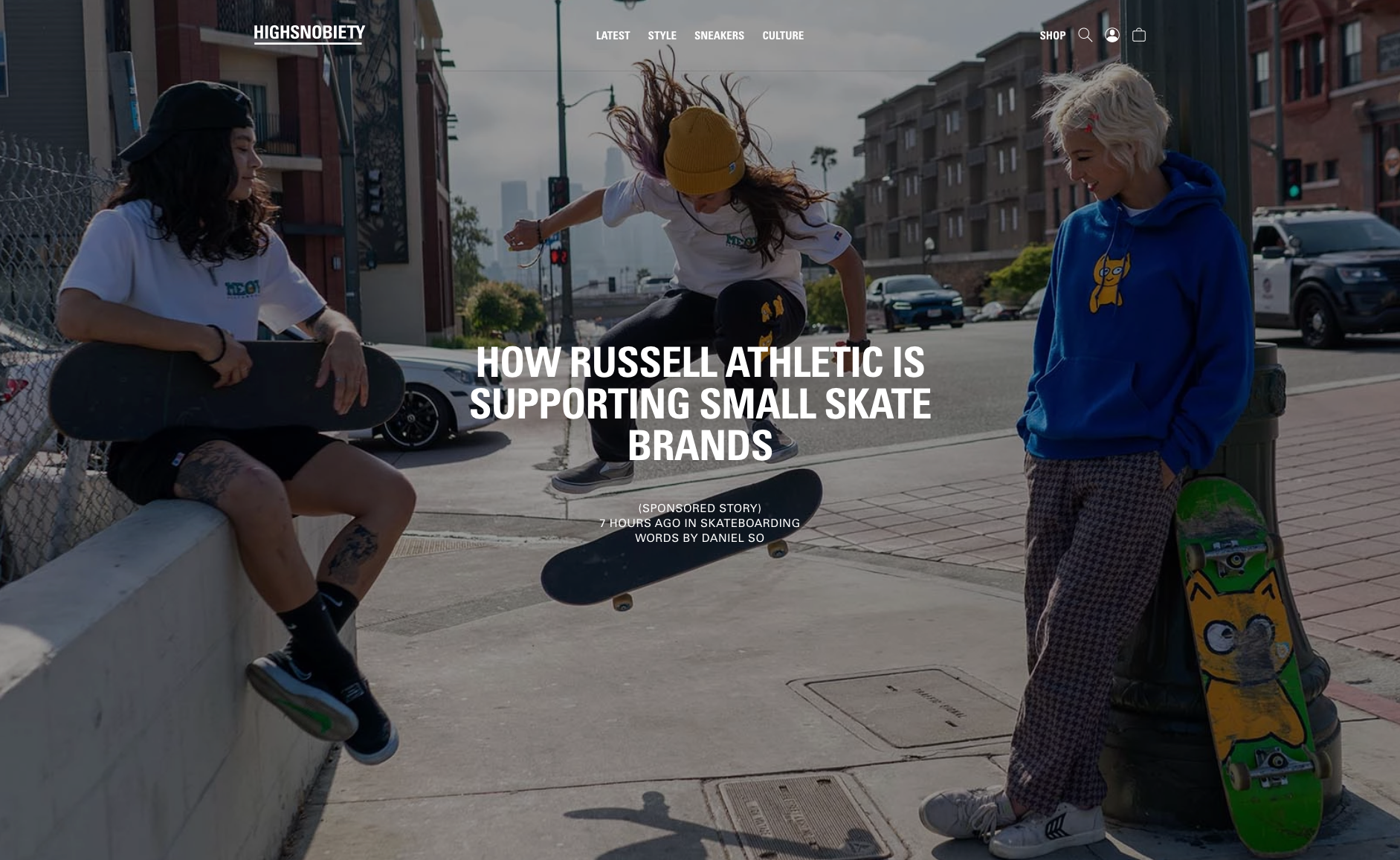 Meow Skateboards x Russell Athletic