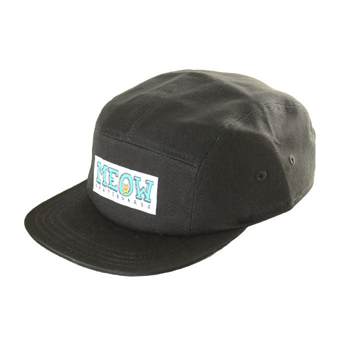 Logo 5-Panel Camp Hat [Black]