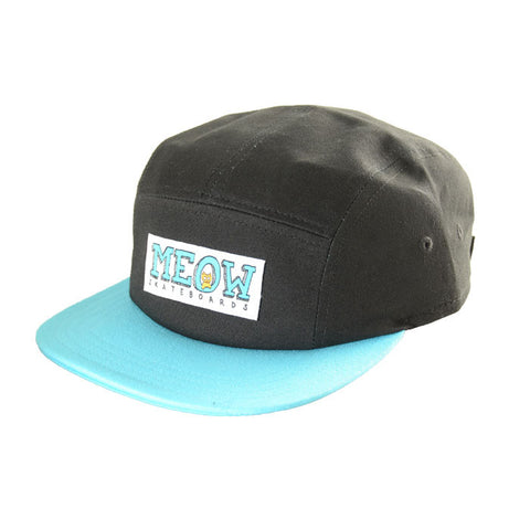 Logo 5-Panel Camp Hat [Black/Teal]