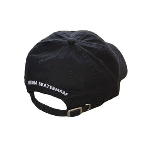 Meow Unstructured Hat [Black]