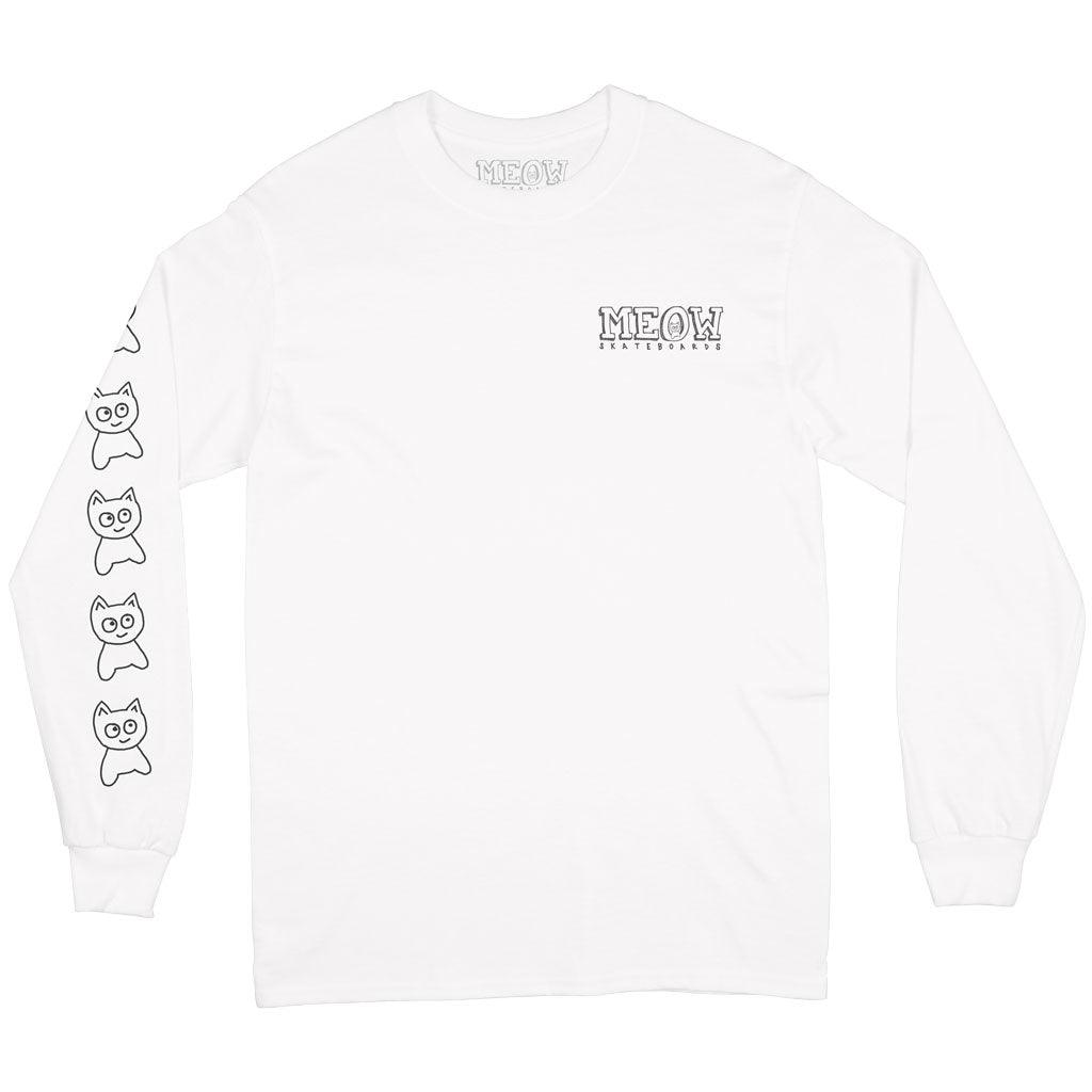 Big Cat L/S Tee [White]