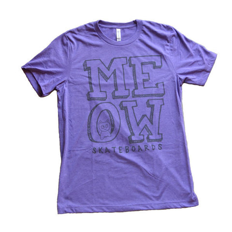Stacked Logo Tee [Heather Purple]