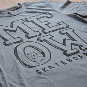 Stacked Logo Tee [Heather Slate]