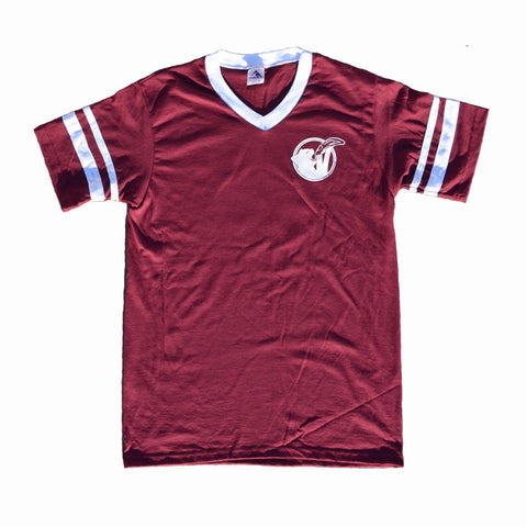 Cat Snax V-Neck Jersey [Maroon]
