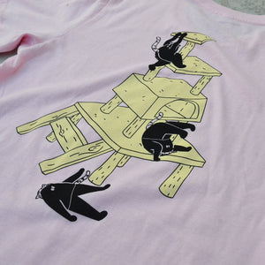 Cat Meowntain Tee [Pink]