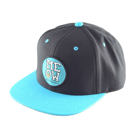 Stacked Snapback Hat [Black/Teal]