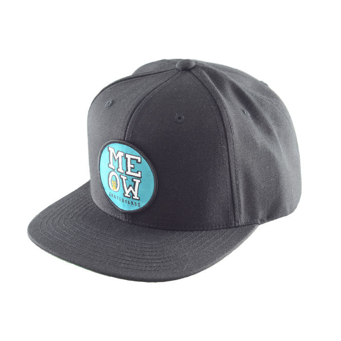 Stacked Snapback Hat [Black]