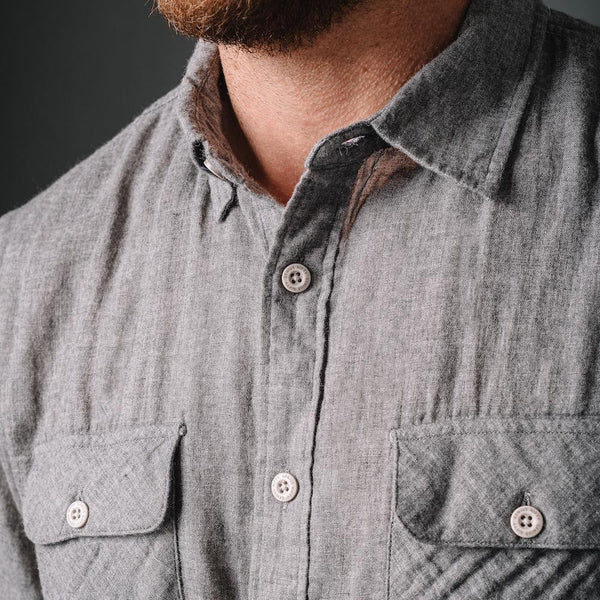 Truman Outdoor Shirt in Gray Double Face