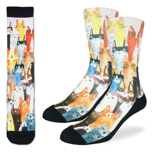 Men's Cat Party Socks