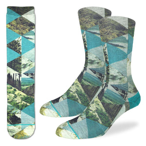 Men's Forest of Triangles Socks
