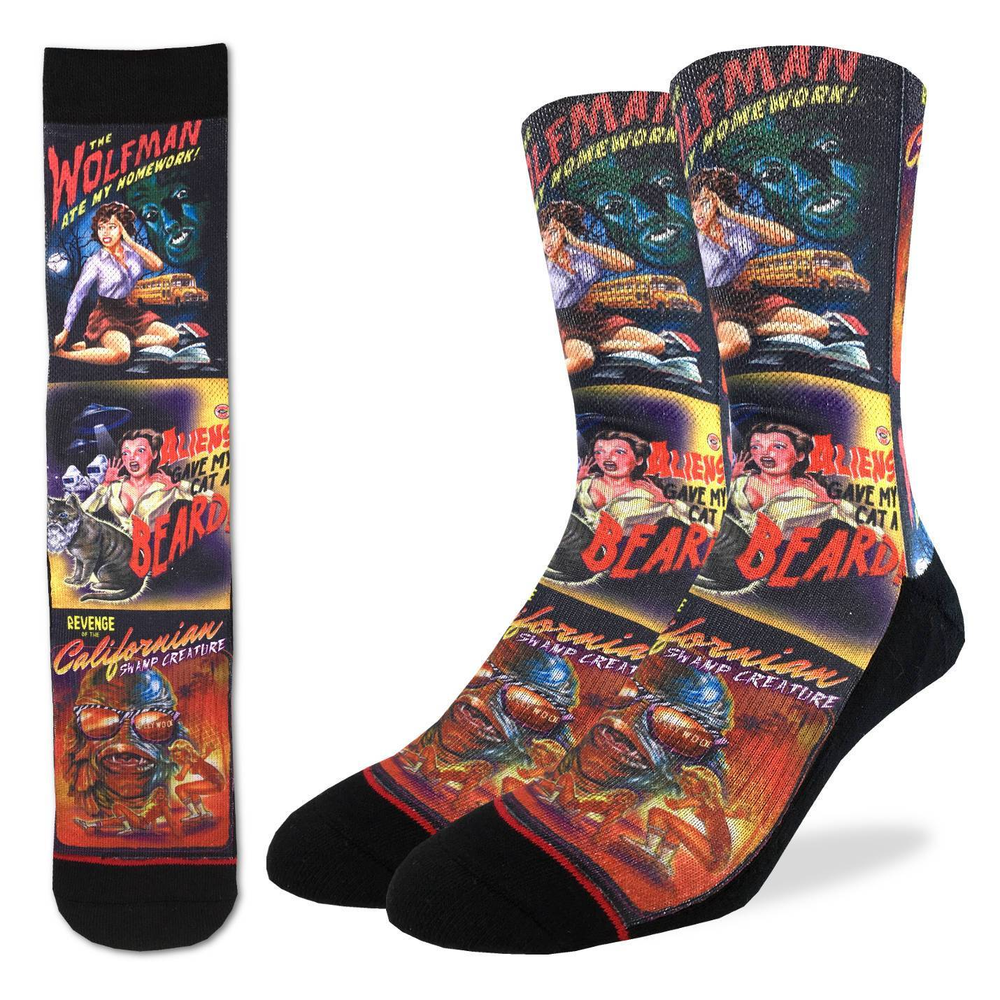 Men's B-Movie Horror Posters Socks