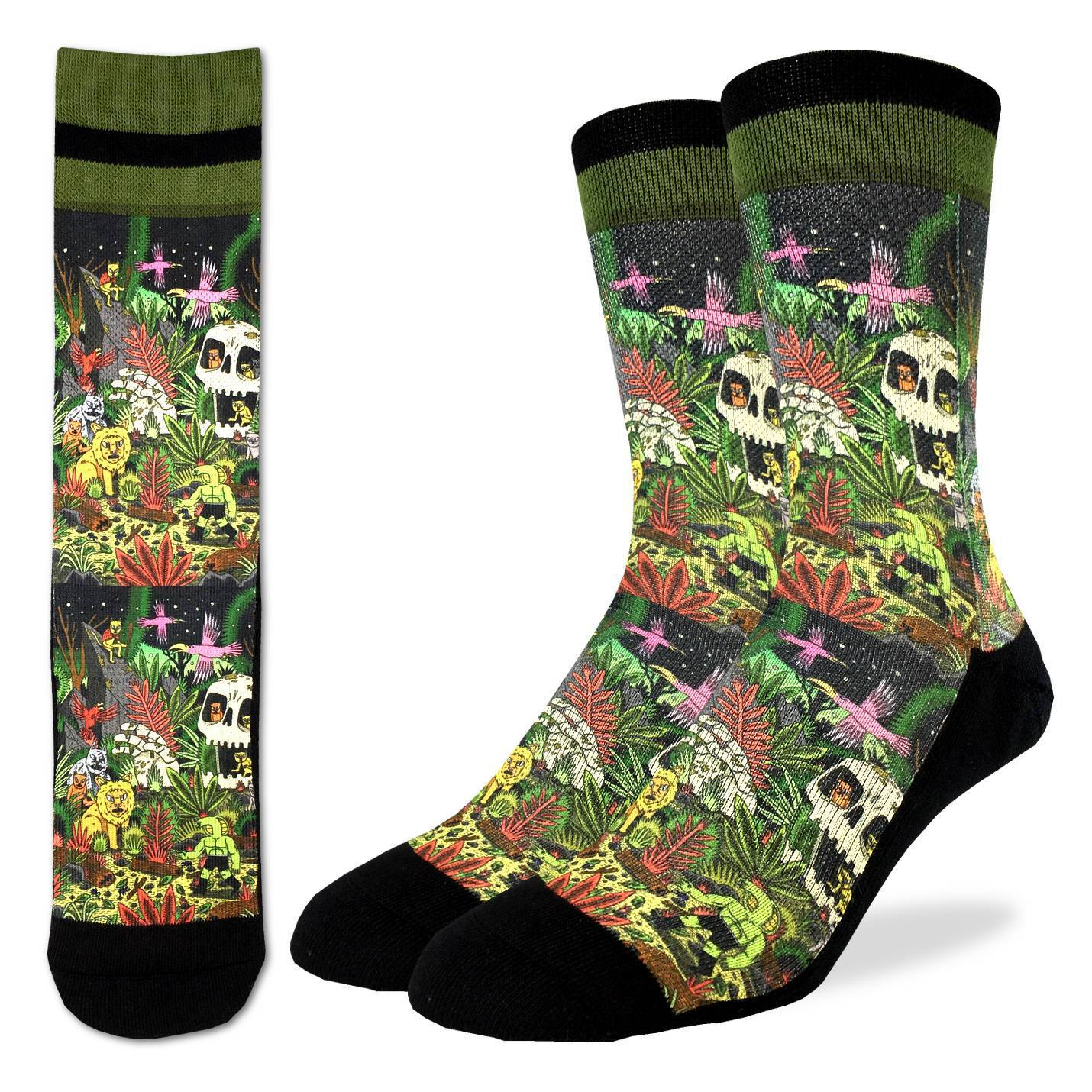 Men's Trippy Jungle Socks