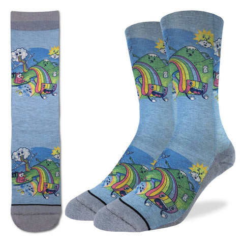 Men's Eating Rainbow Pasta Socks