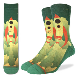 Men's Rocket Ship Socks