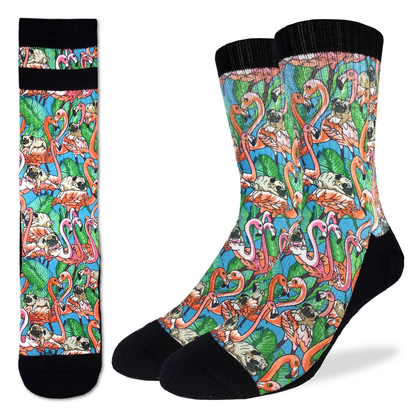 Men's Pugs & Flamingos Socks