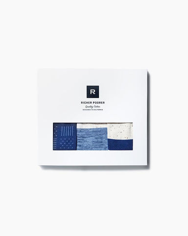 Deep Blue 3-Pack Socks Gift Box for Men