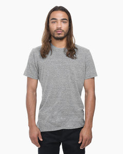Men's Heather Grey Crew Pocket Tee