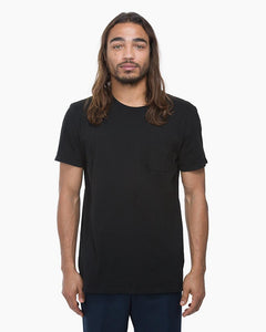 Men's Black Crew Pocket Tee