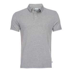 Nicholas Modal One Pocket Polo in Heathered Gray