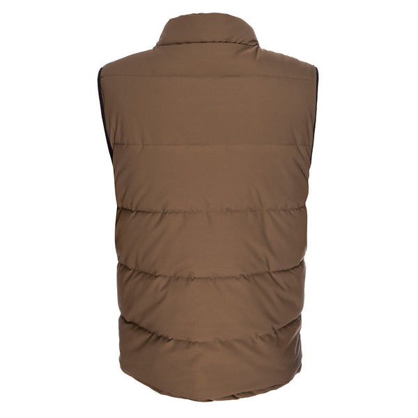Quilted Vest in Brown
