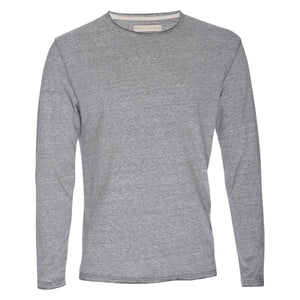 Ryan Raw Seam Recycled Cotton/Poly Crew in Gray