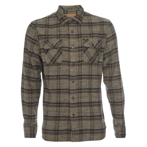 Truman Outdoor Shirt in Brown Plaid