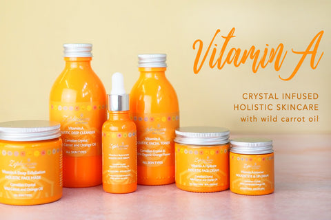 vitamin a crystal infused aromatherapy skincare carrot oil
