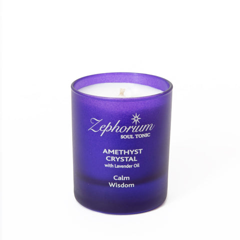 Amethyst Crystal Affirmation Candle