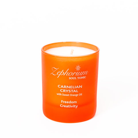 Carnelian Crystal Affirmation Candle