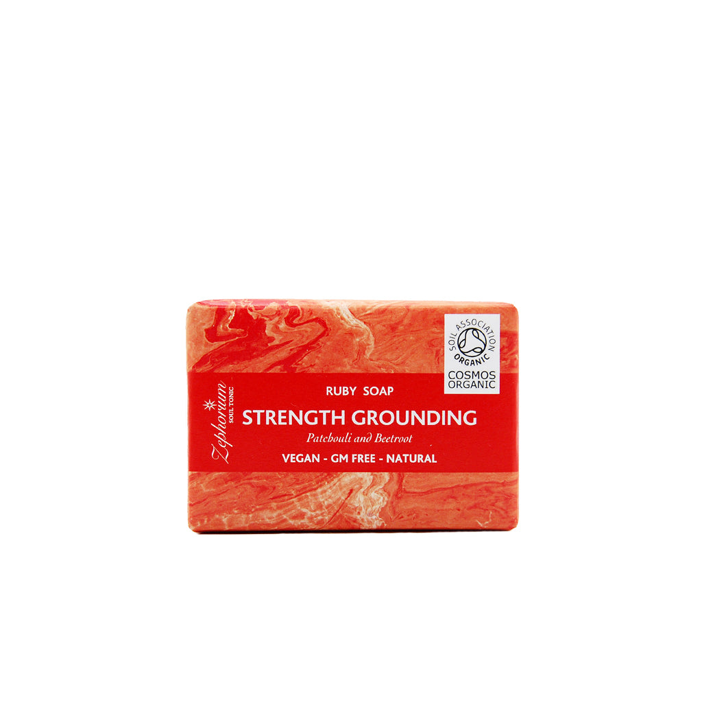 Strength & Grounding Organic Aromatherapy Soap with Patchouli and Beetroot