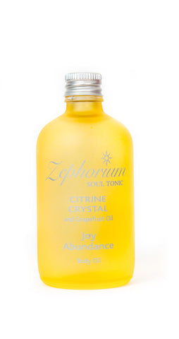 Citrine Crystal Body Oil  100ml