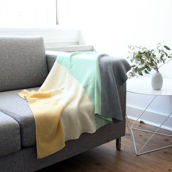 koko's nest | Modern Heirloom baby blanket GRAYS