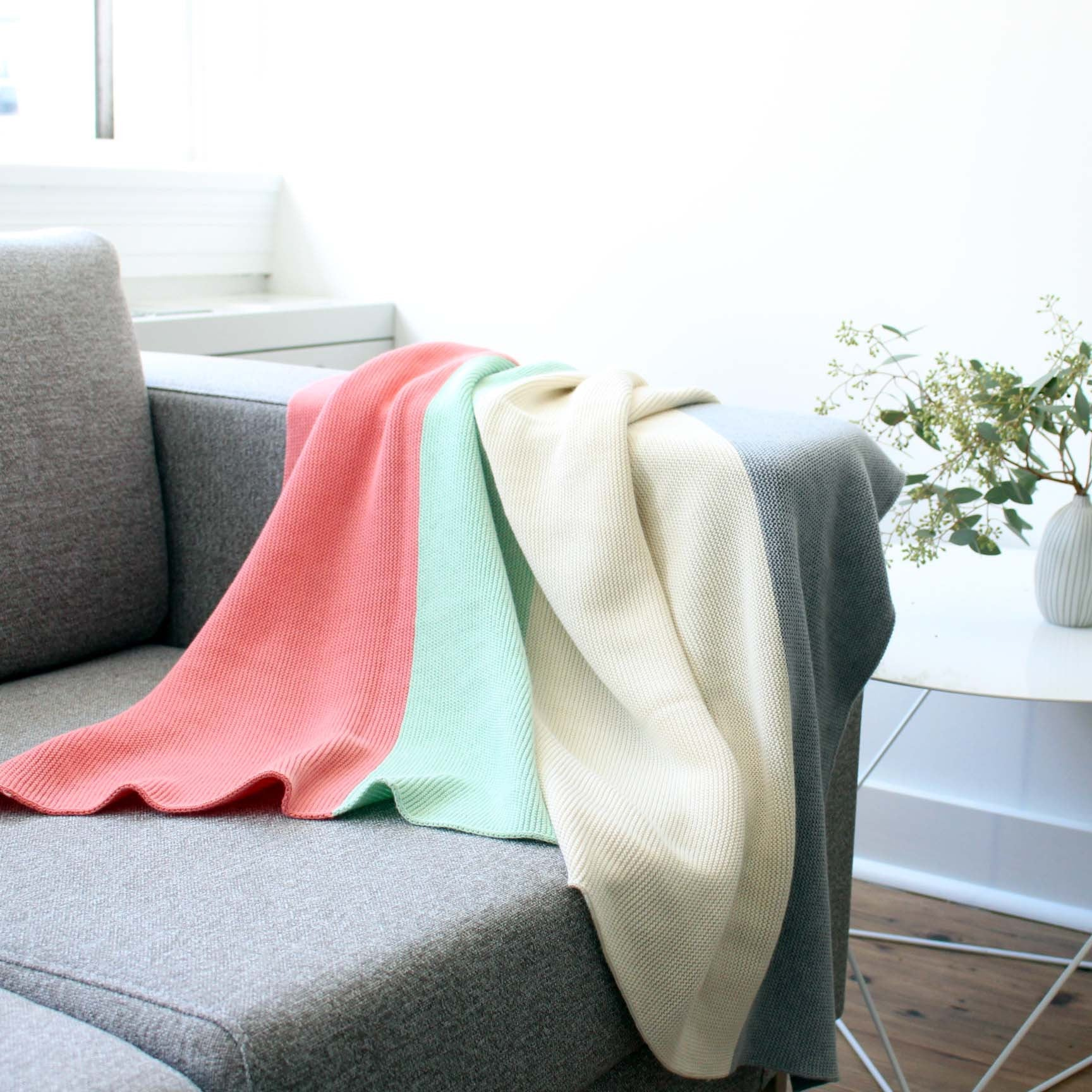 koko's nest | Modern Heirloom baby blanket CABOT