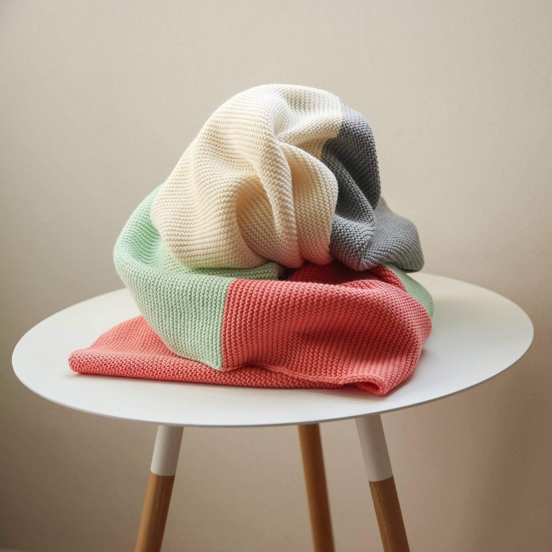 koko's nest | BLOC Cabot | 100% Egyptian Cotton | knit baby blanket