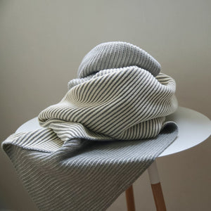koko's nest | LINE grey | 100% Organic Cotton | knit baby blanket | made in usa