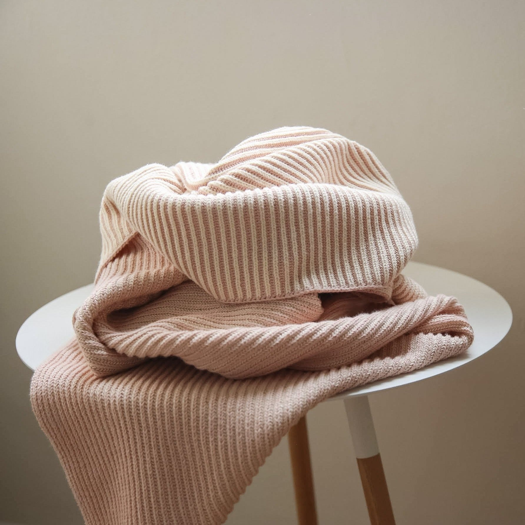 koko's nest | LINE Rose | 100% Organic Cotton | knit baby blanket | made in usa