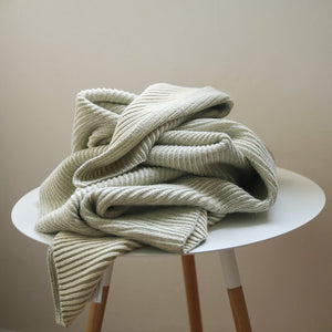 koko's nest | LINE Sage | 100% Organic Cotton | knit baby blanket | made in usa