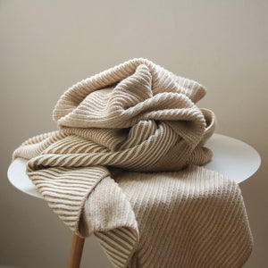 koko's nest | LINE Sand | 100% Organic Cotton | knit baby blanket | made in usa