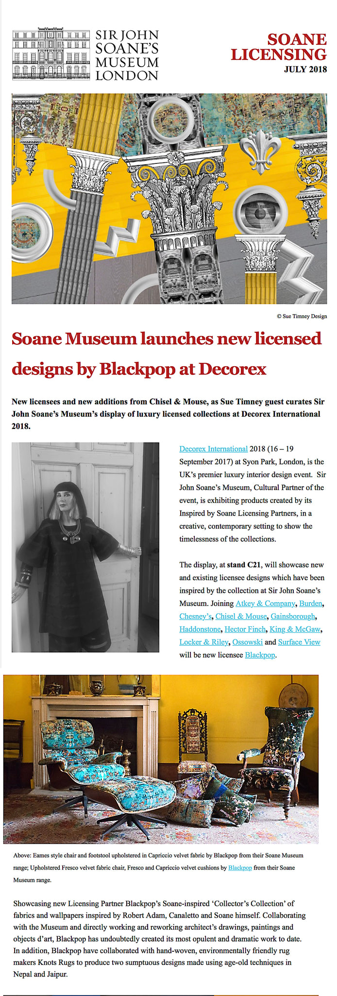 Blackpop collaborates with Sir John Soanes Museum July 18th 2018