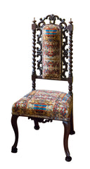 French 19c side chair, yellow velvet upholstery fabric, Blackpop, sir john soane's museum furniture, period side chairs,